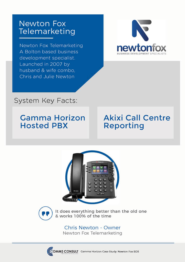 Newton Fox Call Centre System Case Study